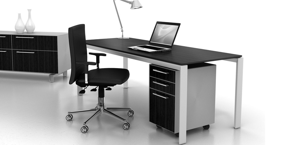 pedestal style open office storage
