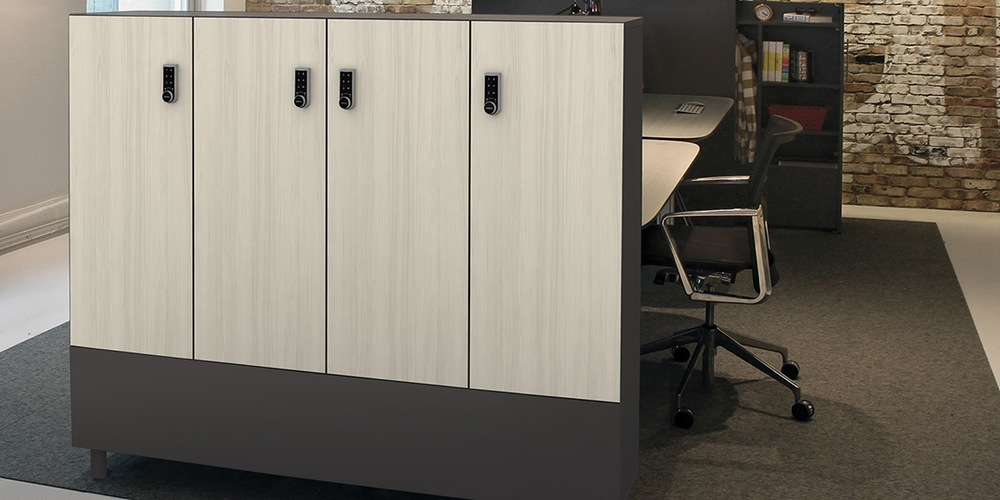open office storage lockers
