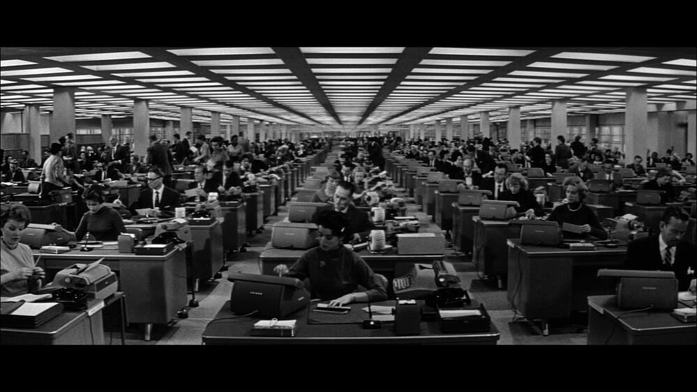 1940s Office Wall-less Cubicles