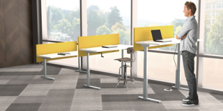 individual office adjustable desking