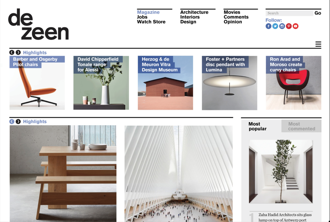 U201cDezeen Is The Worldu0027s Most Popular And Influential Architecture And Design  Magazine, And The Winner Of Numerous Awards For Journalism And Publishing.