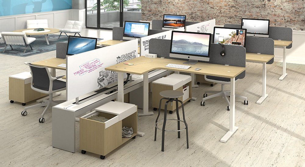 Agile open office furniture