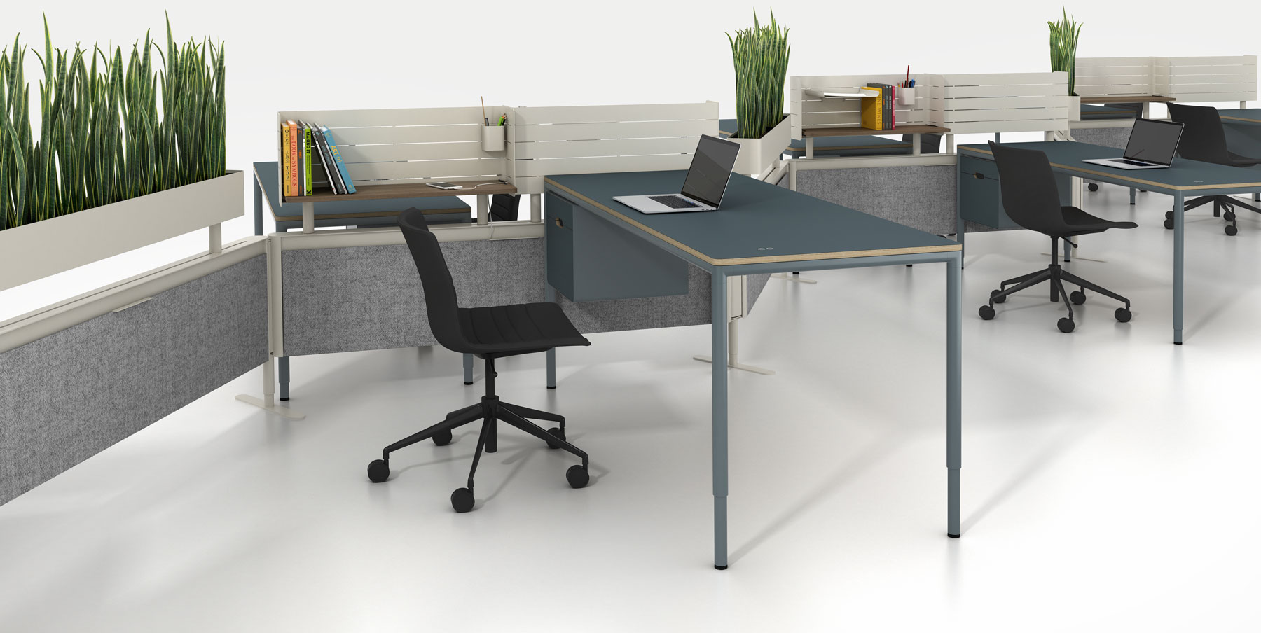 C9 desk and rail system